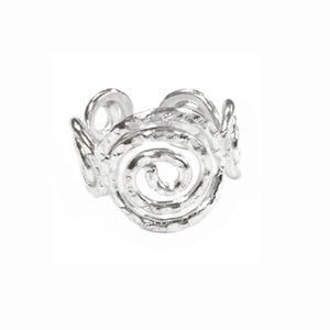 LAST ONE! Handcrafted Silver Swirl Ring